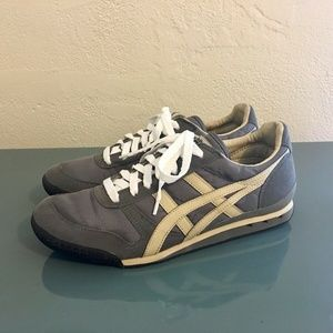 Ascis Onitsuka Tiger Running Shoes Gray Ivory 9